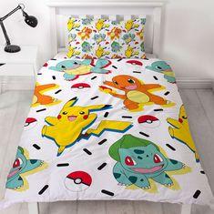 Pokémon fans will love this fun Pokemon Catch Kids Doona Single Duvet Cover Set. Duvet Cover Sizes, Quilt Cover Sets, Pikachu, Memphis, Deux Faces, Single Duvet Cover, Childrens Beds, Duvet Bedding, Cool Beds