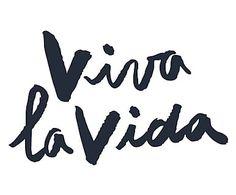 Sticker VIVA LA VIDA, noir et blanc - L70