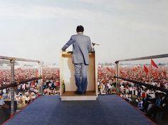 Enrico Berlinguer, foto di Luigi Ghirri, 1983