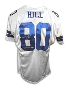 Autographed Tony Hill Dallas Cowboys White Throwback Jersey Inscribed 3  Time Pro Bowl - promotional events 7755de018