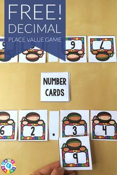 This exciting game is PERFECT for reviewing decimal place value and comparing decimals!