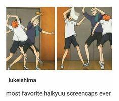 Haikyuu Tsukishima Hinata Yamaguchi it looks like they're dancing Haikyuu Manga, Haikyuu Tsukishima, Haikyuu Funny, Haikyuu Fanart, Kuroo, Kenma, Nishinoya, Tsukishima X Yamaguchi, Haikyuu Ships