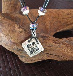 Lustre Diamond Pendant with Beads by RGClayDesign on Etsy, #hudsonvalley #hvnyteam