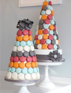 Beautiful Cake Pictures: Colorful Macaroons Wedding Cake: Colorful Cakes, Modern Wedding Cakes
