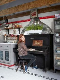 Of COURSE Neko Case lives in a ballin Vermont farmhouse with a piano in the kitchen. So much want. [via Country Living)