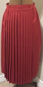 Vintage Alfred Sung Pure Virgin Wool Pleated Wrap Skirt Size 10 Retro Chic Warm! | eBay