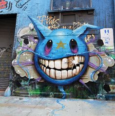 Jeff Soto is a Southern California-based artist who specializes in illustrations and murals. His work is a vivid and bold hybrid of Pop Surrealism and graffiti. Soto draws inspiration from urban and pop culture, and his represented by the Jonathan Levin Gallery in NYC.