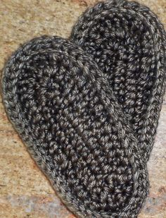 CROCHET SLIPPER BOOT SOLE - PART 2
