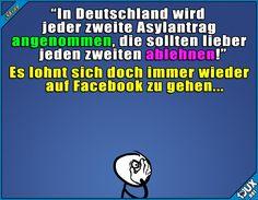 Genug Internet für heute #Asylantrag #fail #peinlich #Sprüche #Jodel #Memes #Statussprüche #Spruch #Politik
