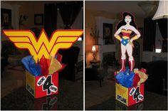 Wonder Woman Centerpiece. $35.00, via Etsy.