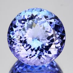 ~BEAUTIFUL~ 5.44 Cts Natural Nice Purple Blue Tanzanite Round Cut Tanzania#gemstones#Gemrockauctions.com#gemstonejewellery#gold Minerals And Gemstones, Crystals Minerals, Rocks And Minerals, Stones And Crystals, Gem Stones, Gem Diamonds, Colored Diamonds, Tanzanite Gemstone, Rocks And Gems