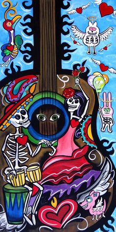Rise to the occassion day of the dead art by melody smith etsy how to throw a day of the dead party that won t kill your budget Comic Cat, Day Of Dead, Mexico Day Of The Dead, Day Of The Dead Artwork, Mexico Art, Chicano Art, Chicano Tattoos, Yakuza Tattoo, Art Tattoos