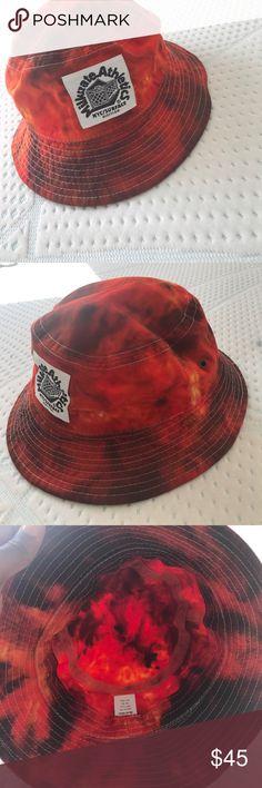 Bucket Hat Red/Orange Bucket Hat Accessories Hats
