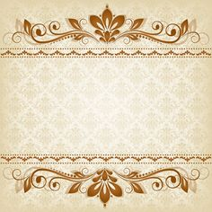 Vector vintage floral background with decorative flowers for design Vintage Floral Backgrounds, Flower Backgrounds, Vektor Muster, Wedding Invitation Background, Paper Frames, Decoupage Paper, Vintage Labels, Paper Background, Vector Pattern