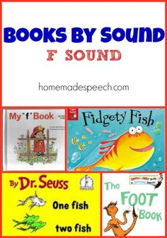 We are adding onto our ever-growing list of books by speech sound, and today is all about the & sound. Most children should have developed the /f/ sound by age although many children continue . Articulation Therapy, Articulation Activities, Teaching Phonics, Speech Therapy Activities, Language Activities, Book Activities, Speech Language Pathology, Speech And Language, Preschool Books