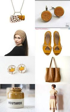 Mustard by Sarah K. Benning on Etsy crochet yellow earrings, silk earrings, felting, gold mustard, october trends,leather purse, knitted scarf mustard shoes, fall womens fashion, yellow autumn--Pinned with TreasuryPin.com