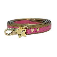 CORREA SHEREZADE en color FUCSIA para #perro pequeño. Con remates en dorado. Disponible en nuestra tienda online : http://www.dogsaffaire.com/de-paseo/correa-sherezade-turquesa-1423.html?search_query=shere&results=5