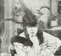 """Valeska Suratt (1882-1962) - American stage and silent film actress. No copies of Suratt's films have survived, only stills. She was known as """"The Vampire Woman of the silent screen"""" and sometimes called """"Empress of Fashions"""" for her extravegant and expensive gowns on and off the stage."""