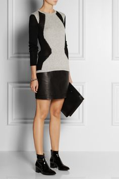 Helmut Lang | Obstructed Borders knitted sweater | NET-A-PORTER.COM
