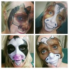 Farm animal face paint