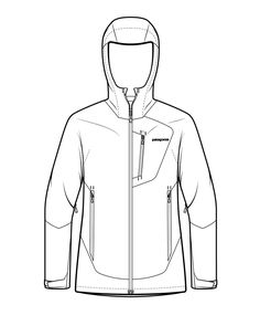 Patagonia Technical Illustrations Product and Instructional illustrations 2013 — 2017 Catalog Illustrations to explain the technical aspects of. Clothing Templates, Clothing Sketches, Fashion Sketches, Dress Sketches, Drawing Fashion, Flat Drawings, Flat Sketches, Cap Drawing, Drawing Tips