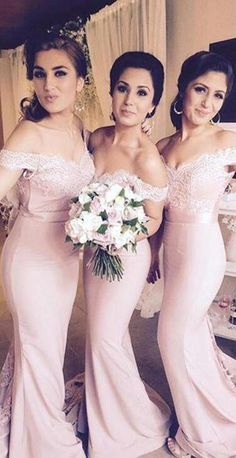 mermaid bridesmaid dress.lace bridesmaid dress 2016,long bridesmaid dress,Blush Pink bridesmaid dresses