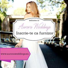 Website-ul nostru gazduieste produsele tale! Inscrie-te acum pe www.auroraweddings.eu si promoveaza-ti serviciile! Vezi aici oferta noastra: http://goo.gl/Y9BhrZ!