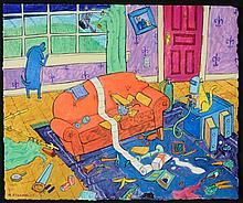 MATT RINARD ORIGINAL GOUACHE ON PAPER  There is No place Like home.