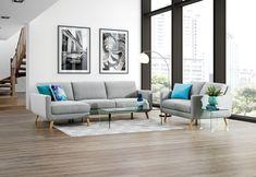 Phoebe Fabric Sofa Chaise Pair | Super A-Mart