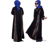 Tesettür Elbise 5190-01 Siyah #sefamerve #tesetturgiyim #tesettur #hijab #tesettür