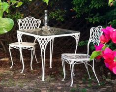 Wrought Iron Patio Furniture U2013 Etsy Vintage Patio Furniture, Iron Patio  Furniture, Vintage Chairs