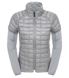 The North Face Damen Thermoball Travel Jacke Mid Grey