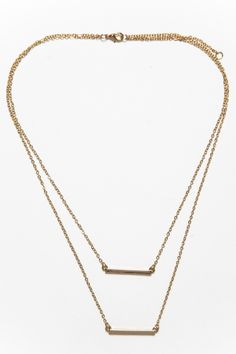 Between The Lines Layered Necklace