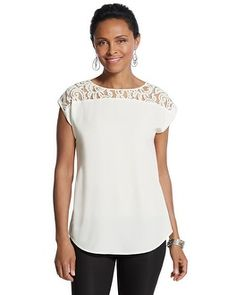 Chico's Isa Lace Top #chicos