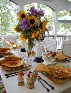 Sunflower Celebration Tablespcape | Between Naps on the Porch