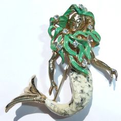 Hattie Carnegie mermaid pin