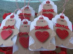 Gingerbread tags Christmas tags Gingerbread by chucklesandcharms, $9.00