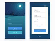 001 Log in & Sing up ui iphone ios illustration icon data app App Design Inspiration, Typography Inspiration, Daily Inspiration, Web Design Trends, Ui Ux Design, Design Blogs, App Login, Android Design, Sign Up Page