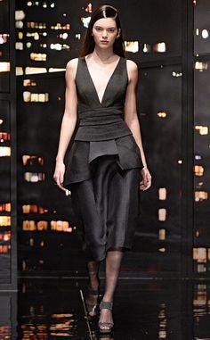 • Strut your stuff! Kendall rocks the runway during theDonna Karan Autumn Winter 2015 fashion show •