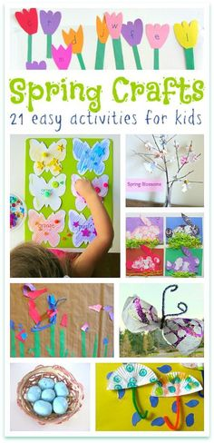 Spring is my favorite time for kids crafts. So many pretty colors. These are all easy spring crafts for kids. Spring is my favorite time for kids crafts. So many pretty colors. These are all easy spring crafts for kids. Kids Crafts, Spring Crafts For Kids, Daycare Crafts, Toddler Crafts, Crafts To Do, Preschool Crafts, Easter Crafts, Projects For Kids, Holiday Crafts