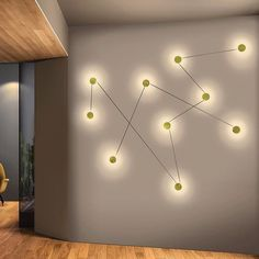 Home Join the dots Azou wall lights designed by Led Wall Lamp, Led Wall Lights, Flur Design, Wall Design, Interior Lighting, Lighting Design, Blitz Design, The Cool Republic, Home Decor