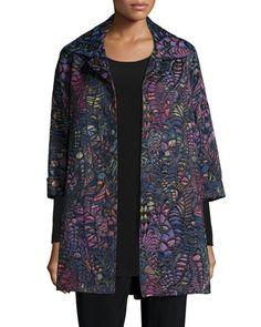 Caroline Rose Plus Size Jacket - GORGEOUS Intricate Fabric!