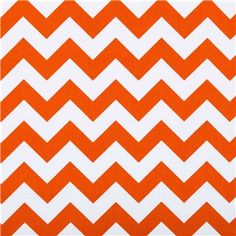 "APT2-23 Orange & White Chevron Fabric is 43"" - 44"" wide and 100% cotton. Incorporate fun, colorful patterns into your home decor using this orange and white chevron-patterned fabric. With its bright, beautiful, unique pattern, this fabric will make beautiful pillow covers, drapes, curtains, and so much more!    	CARE INSTRUCTIONS: Machine wash, cold; tumble dry. Do not bleach.    	Available in 1-yard increments. Average bolt size is approximately 9 yards. Price displayed is ..."