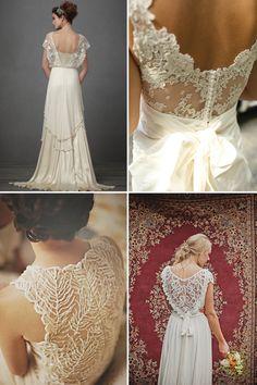Magnolia Rouge: Round up | Lace back Wedding dresses