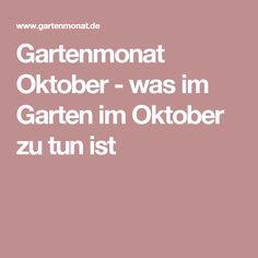 Gartenmonat Oktober - was im Garten im Oktober zu tun ist