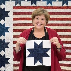 quilting ideas Let freedom ring with Jenny's Stars and Stripes Quilt tutorial! This free tutorial is the perfect patriotic project for the upcoming holidays!How patriotic are you? Do you plant your petunias in bold stripes of red, white, and blue? Star Quilt Blocks, Star Quilt Patterns, Star Quilts, Easy Quilts, Canvas Patterns, Block Quilt, Amish Quilts, Hexagon Quilt, Block Patterns