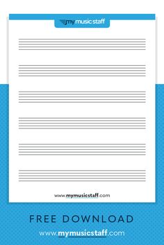 Blank Music Staff Paper - Free Resources from My Music Staff Music Theory Lessons, Music Theory Worksheets, Music Lessons For Kids, Art Lessons Elementary, Piano Lessons, Piano Teaching, Learning Piano, Teaching Art, Teaching Ideas