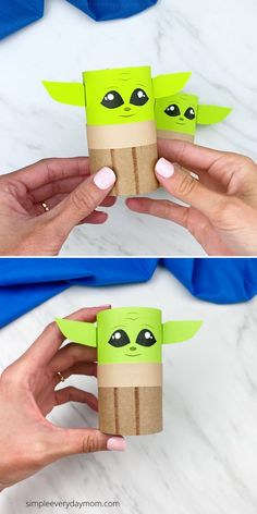 All Star Wars fans will want to create this toilet paper roll baby Yoda craft. Download the free printable template and make it with the kids! Jar Crafts, Crafts To Do, Crafts For Kids, Toilet Paper Crafts, Toilet Paper Roll, Kids Toilet, Star Wars Crafts, Easy Valentine Crafts, Paper Towel Tubes