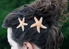 sugar starfish hair pins