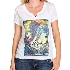 Rock & Roll Cowgirl Women's Graphic Tee